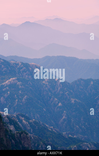 White Cloud scenic area, Huang Shan (Yellow Mountain), UNESCO World Heritage Site, Anhui Province, China, Asia - Stock Image