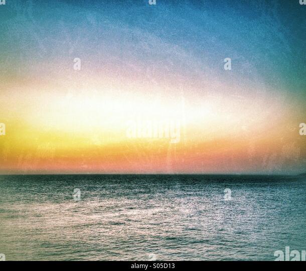 Mediterranean dawn - Stock Image