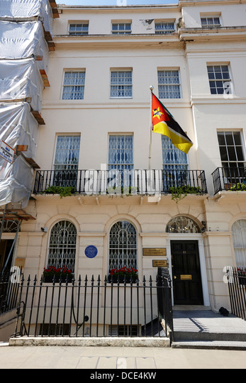 mozambique high commission London England UK - Stock Image