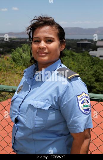 Managua Nicaragua Loma de Tiscapa national historic park Parque Historico La Sombra de Sandino Hispanic woman National - Stock Image