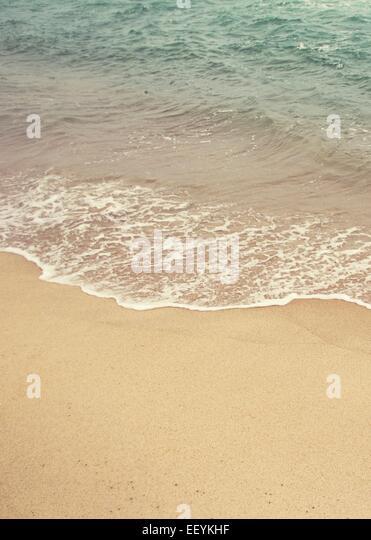 Ocean waters along the beach in Nantucket - Stock-Bilder