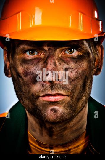 portrait oil industry worker - Stock Image