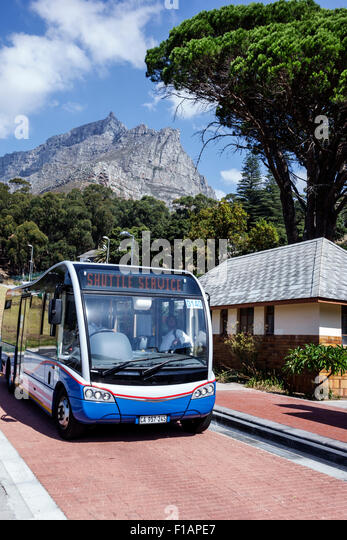 South Africa African Cape Town Kloof Nek MyCiTi bus stop Table Mountain National Park shuttle service - Stock Image