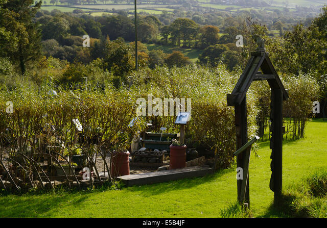 The Planetary Herb Garden at Sculptureheaven sculpture garden, Rhydlewis, Llandysul, Wales, UK. - Stock Image