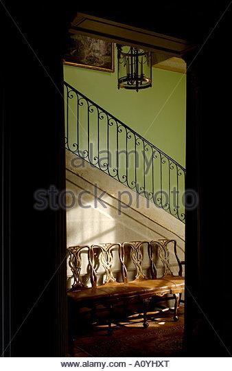 'Petit hotel labottière' 18th century private mansion, Inside staircase, Bordeaux, France - Stock-Bilder
