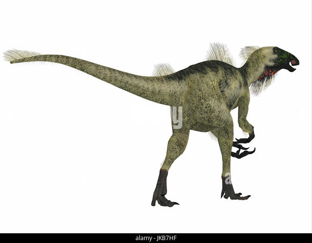 Beipiaosaurus was a herbivorous theropod dinosaur that lived in China in the Cretaceous Period. - Stock Image