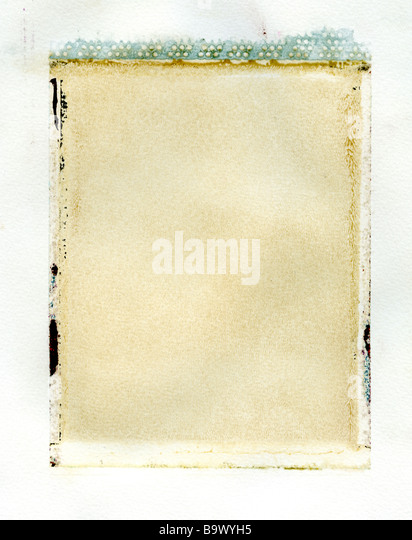 Polaroid emulsion transfer texture - Stock Image