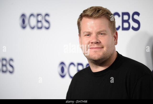New York, NY, USA. 17th May, 2017. James Corden at arrivals for CBS Upfront 2017, The Plaza Hotel, New York, NY - Stock Image