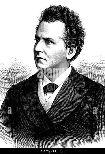 Friedrich Krastel, 1839-1908, a german actor - Stock Image