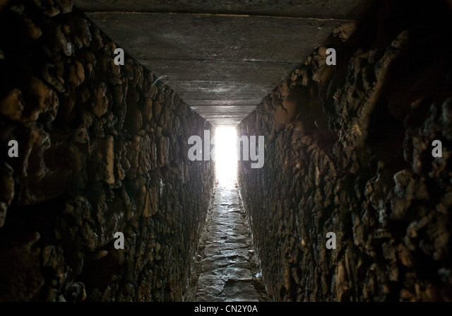 Tunnel with daylight - Stock Image