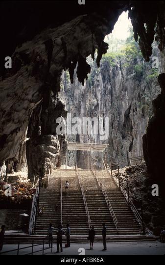 Malaysia Kuala Lumpur Batu Caves interior entrance Hindu holy site religion - Stock Image