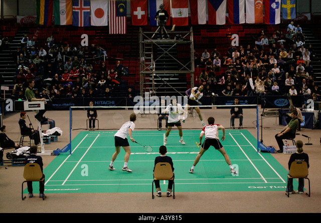 French Open Badminton Championship in Paris Saturday 20 March 2004 - Stock Image