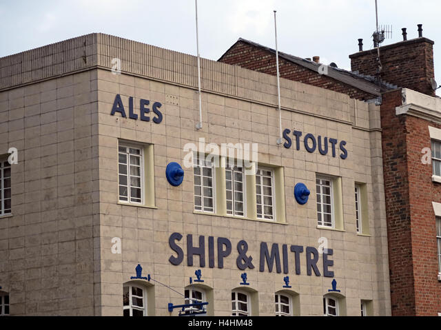Ship & Mitre pub,Ales,Stouts, Liverpool, UK - Stock Image