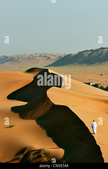 Sultanate of Oman, Ash Sharqiyah Region, desert of Wahiba Sands - Stock Image