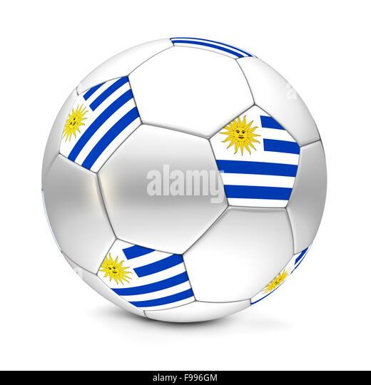 Soccer Ball/Football Uruguay - Stock Image