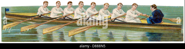 Rowing Eight - Stock Image