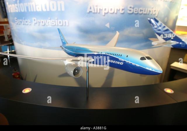 Model of Boeing 787 Dreamliner - Stock Image