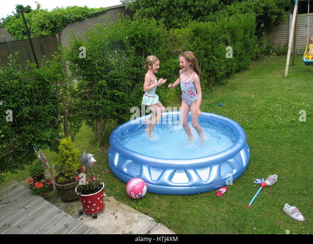 Blowup stock photos blowup stock images alamy for Garden paddling pools
