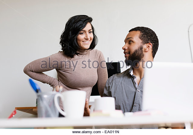 Man and woman in Small Business, Start-up - Stock-Bilder