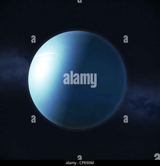 View of the planet Uranus - Stock Image