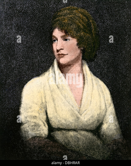 Mary Wollstonecraft Shelley, author of Frankenstein. - Stock Image