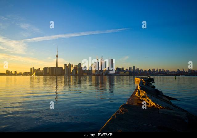 Toronto ON Canada at sunset Nov 2010 - Stock Image