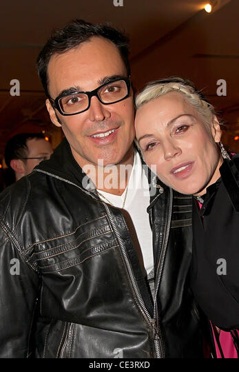 David LaChapelle and Daphne Guinness 9th Annual Glaad OUT Auction, held at Metropolitan Pavillion - Inside New York - Stock Image