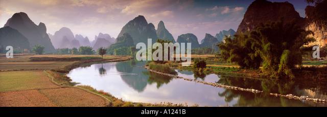 Li River Guangxi Province China - Stock Image