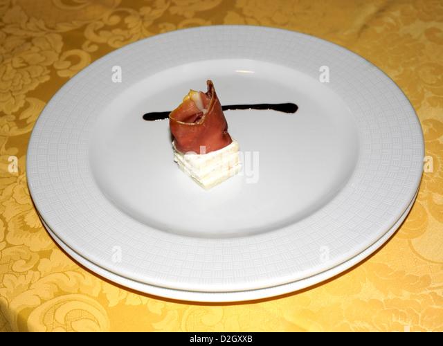 Palermo Sicily Italy Bacon Entree - Stock Image