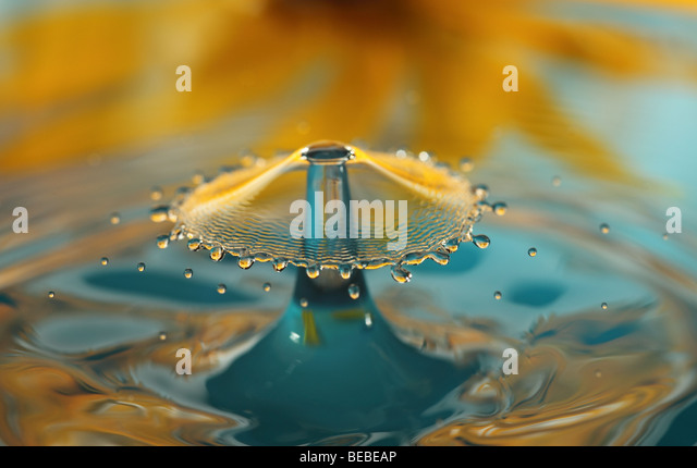 Water drip splash - Stock Image