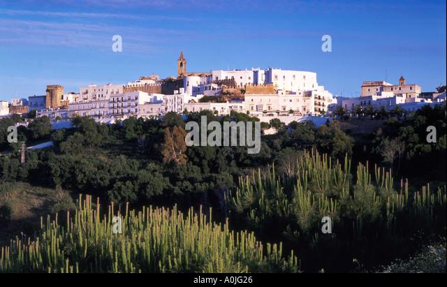 Spain Andalucia Vejer de la Frontera pueblo blanco village - Stock Image