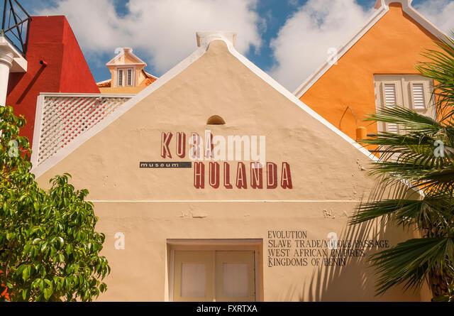 Kura Hulanda Museum exterior at Otrobanda, Willemstad Curacao - Stock Image