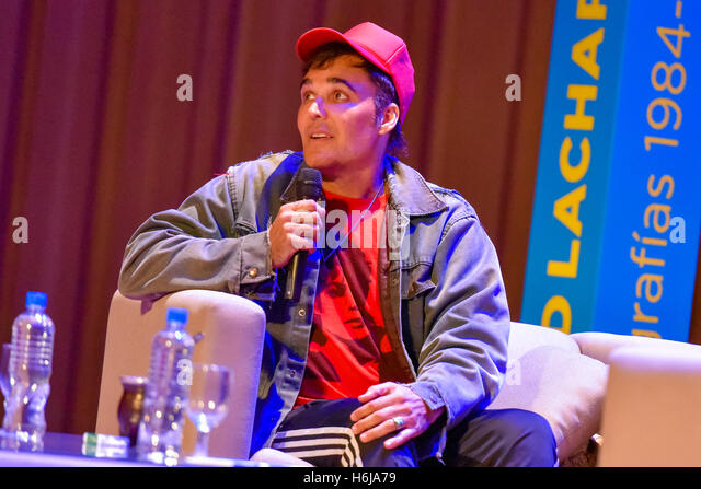 Buenos Aires, Argentina - 29 Oct, 2016: American photographer, director and artist David LaChapelle during a lecture - Stock Image