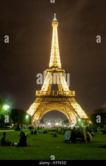 Eiffel Tower Paris - Stock Image