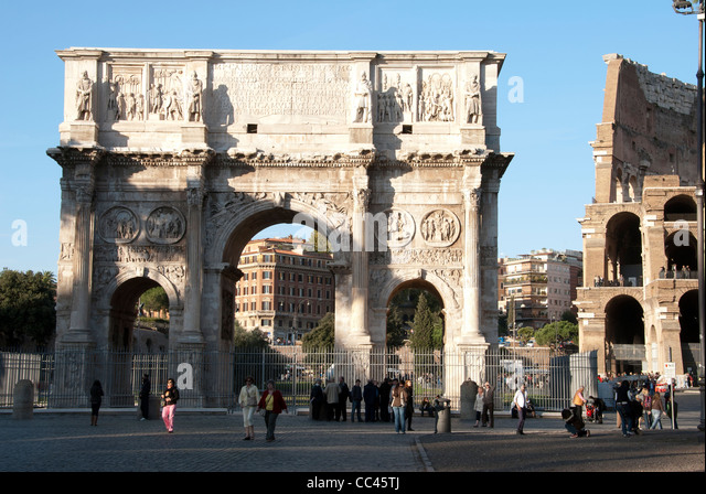 Arch of Constantine - Rome, Italy - Stock Image