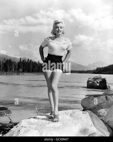Film - Marilyn Monroe - Jasper National Park, Alberta, Canada. - Stock Image