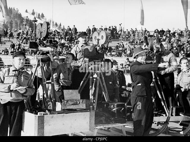 Cameramen at the Olympic Games, 1936 - Stock Image