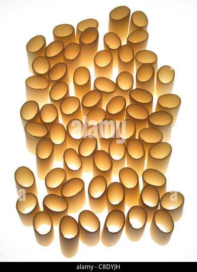 Paccheri pasta - Stock Image