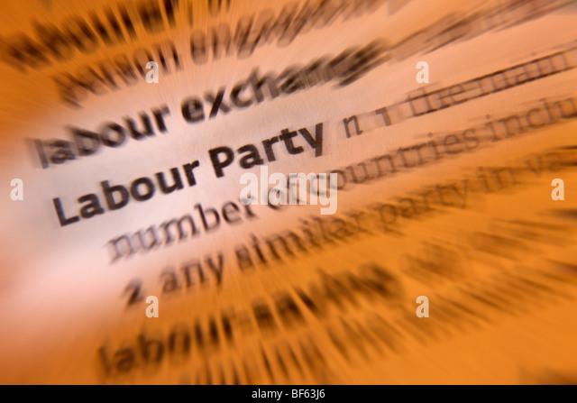 British Politics - Labour Party - Stock Image