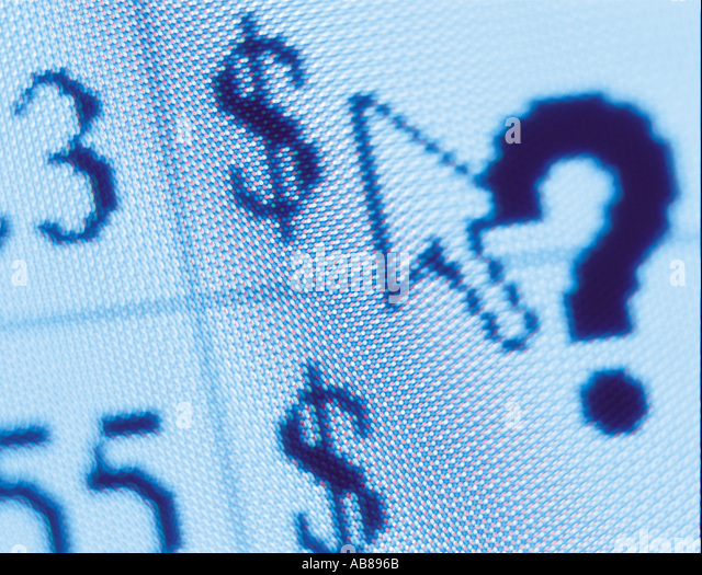 Dollar sign on a compter monitor - Stock Image
