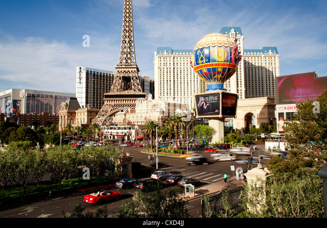 Paris Casino on The Strip, Las Vegas, Nevada, United States of America, North America - Stock Image