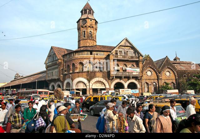 Mumbai ( Bombay ) India Crawford Market - Stock Image