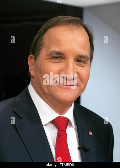 STEFAN LÖFVÉN leader of the Social Democrats and the Swedish Prime minister - Stock Image