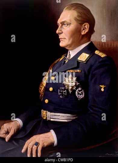 Hermann Goering, (1893-1946), German politician and military leader and leading member of the Nazi Party. 1934 painting - Stock Image