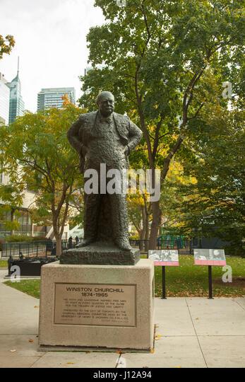 Toronto, Canada - NOVEMBER 01, 2016: Toronto, Sir Winston Churchill bust - Stock Image