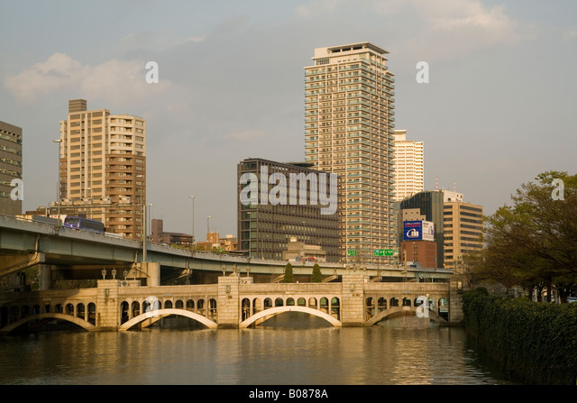 Japan Osaka Dojima river - Stock Image