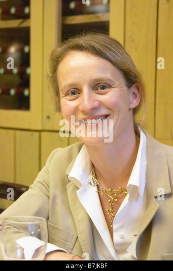 Sylvie Auney, Chateau Le Chec graves bordeaux france - Stock Image