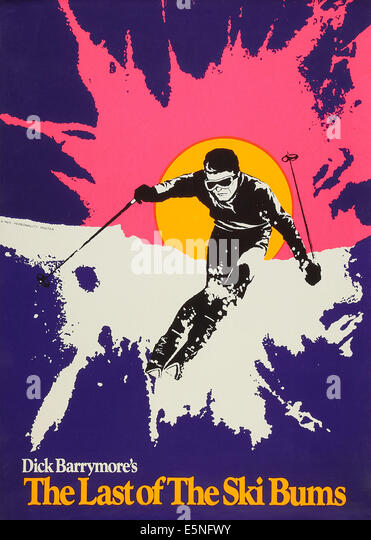 THE LAST OF THE SKI BUMS, US poster art, 1969 - Stock Image
