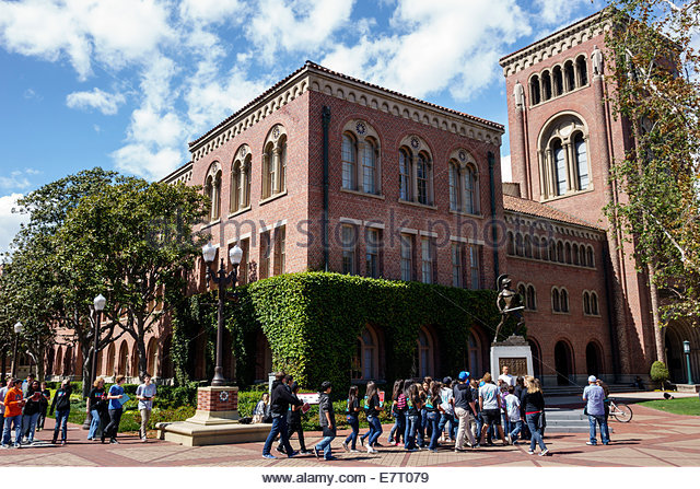 Los Angeles California CA L.A. Downtown LA USC University of Southern California university college campus higher - Stock Image