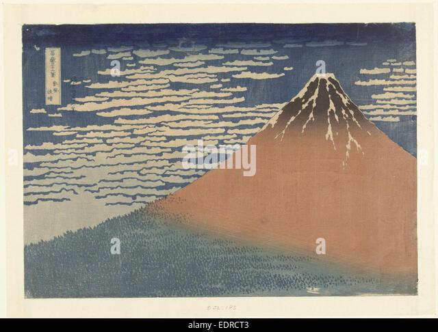 Clear Weather with a Southerly Wind, Katsushika Hokusai, Nishimura Yohachi, 1829 - 1833 - Stock Image